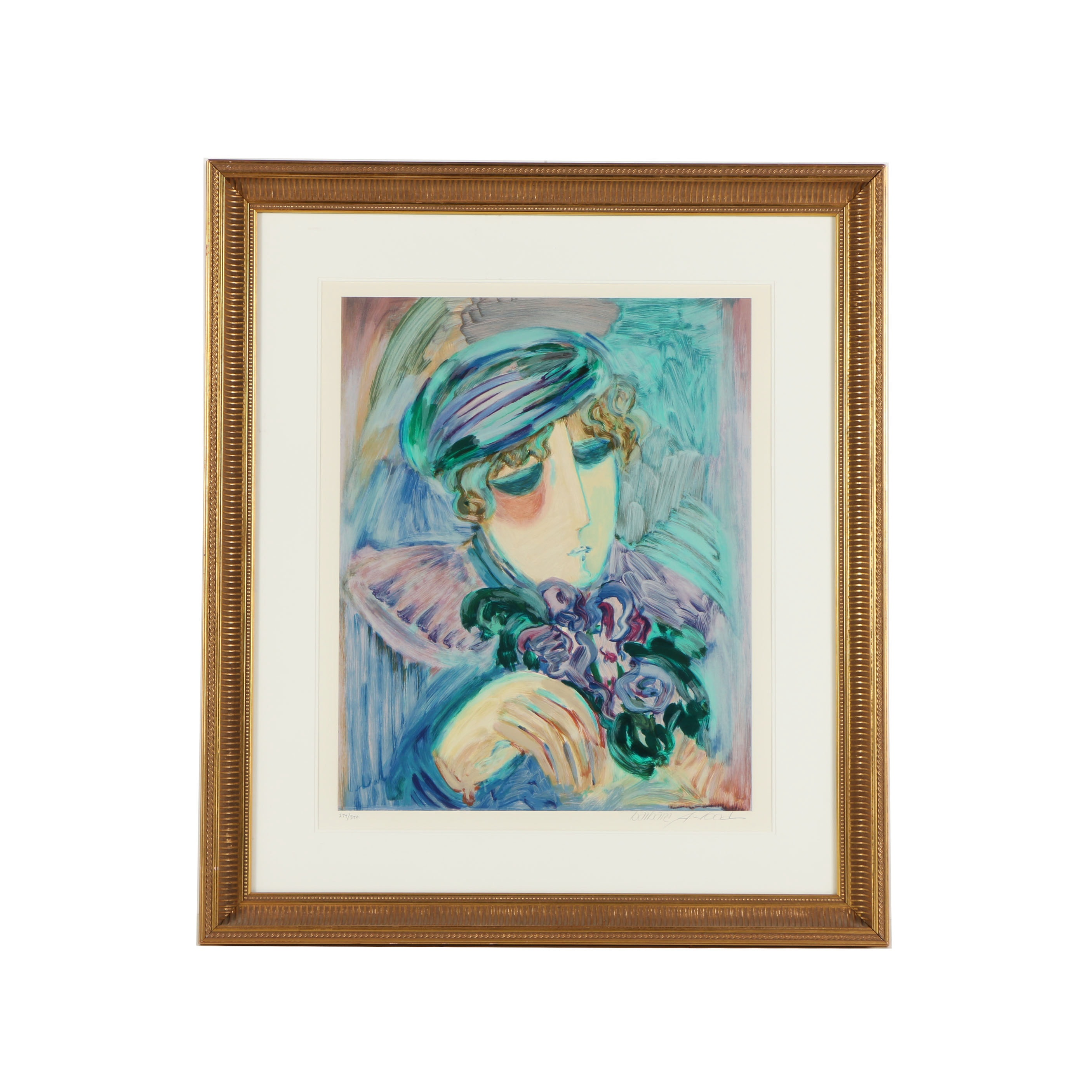 Barbara A. Wood Limited Edition Serigraph of a Woman