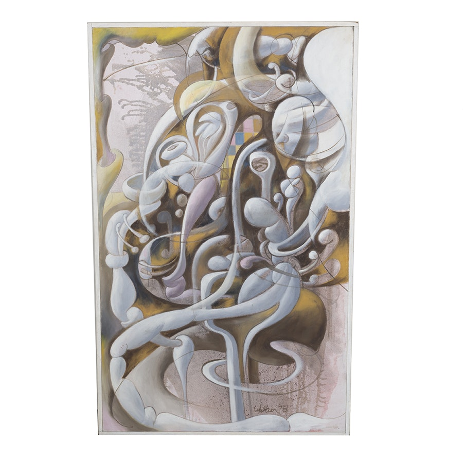 "David Walker Oil on Canvas ""Organic Forms"""