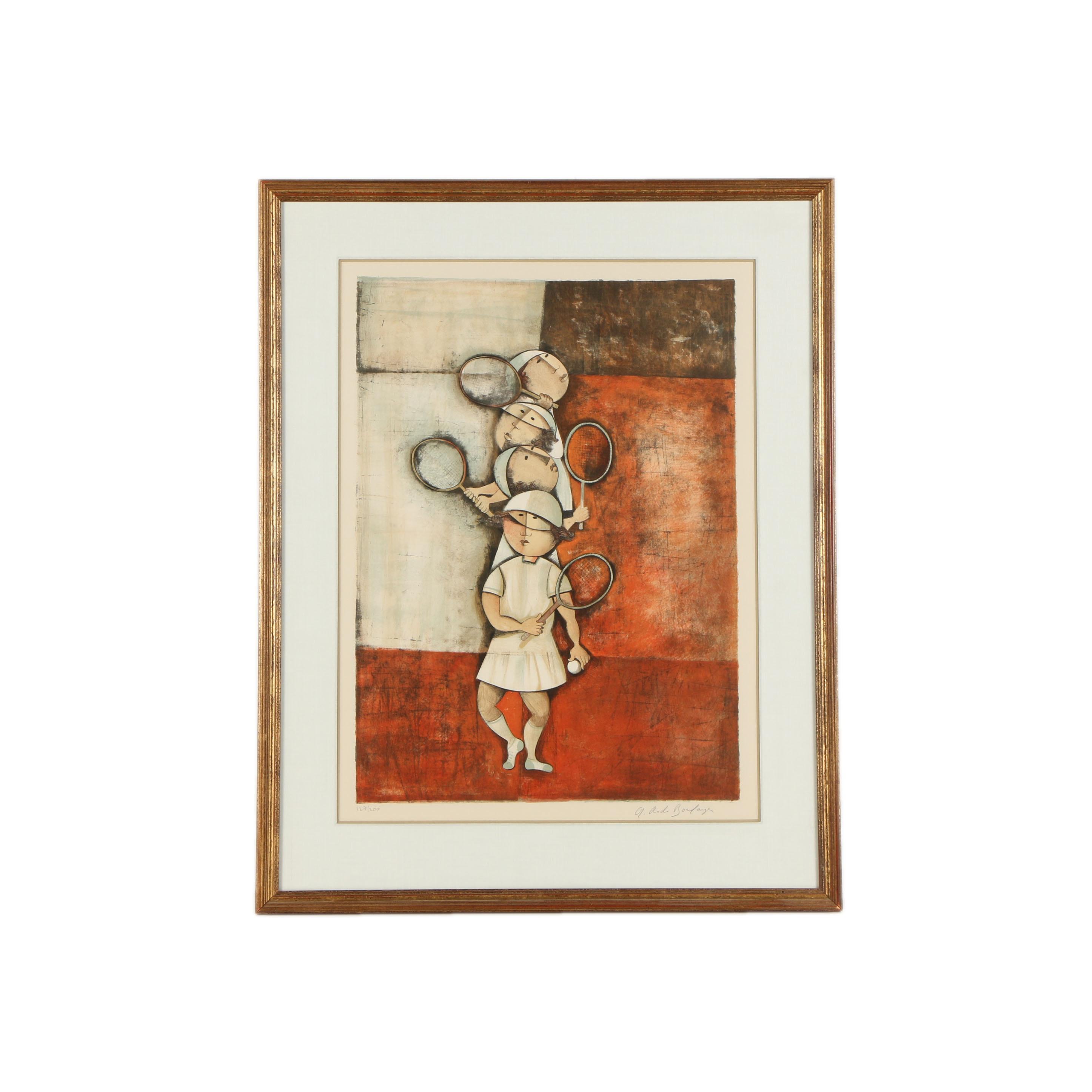 "Graciela Rodo Boulanger Limited Edition Serigraph ""Tennis"""