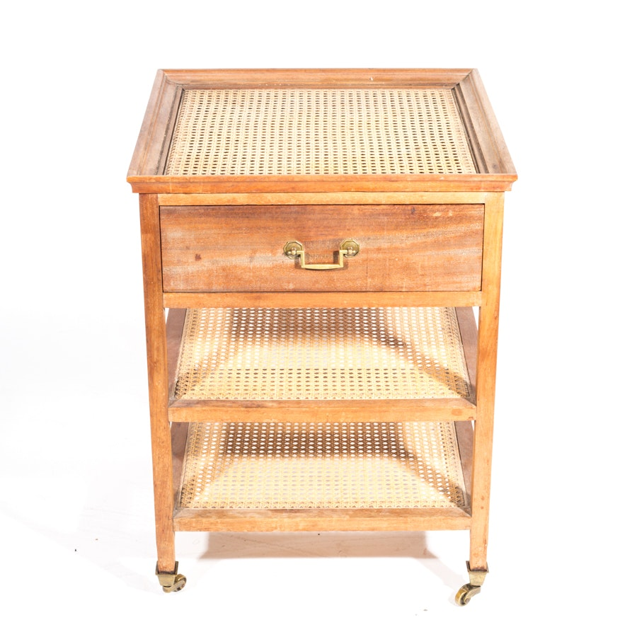 Caned Accent Table