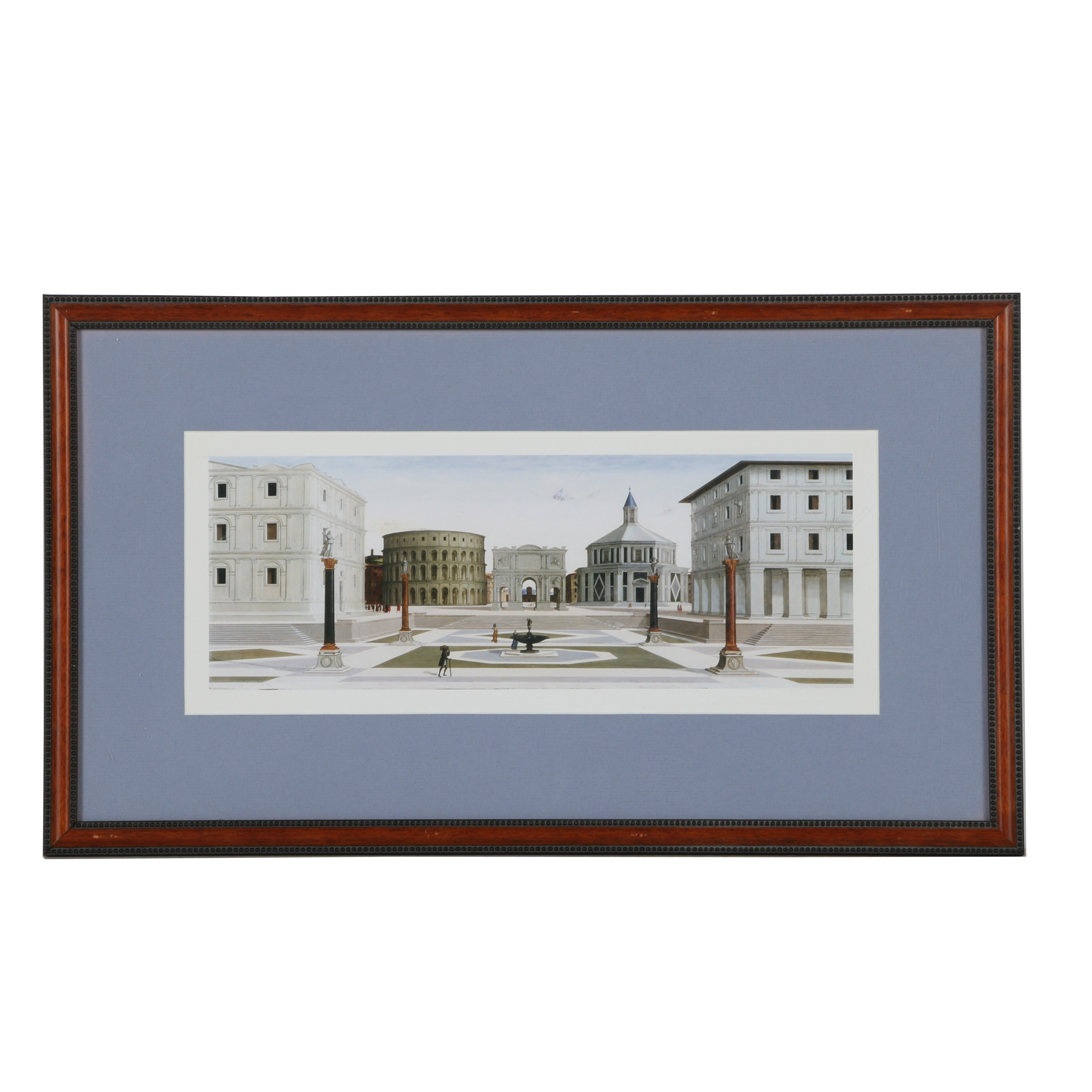 """Offset Lithograph After Italian Renaissance Painting """"View of an Ideal City"""""""