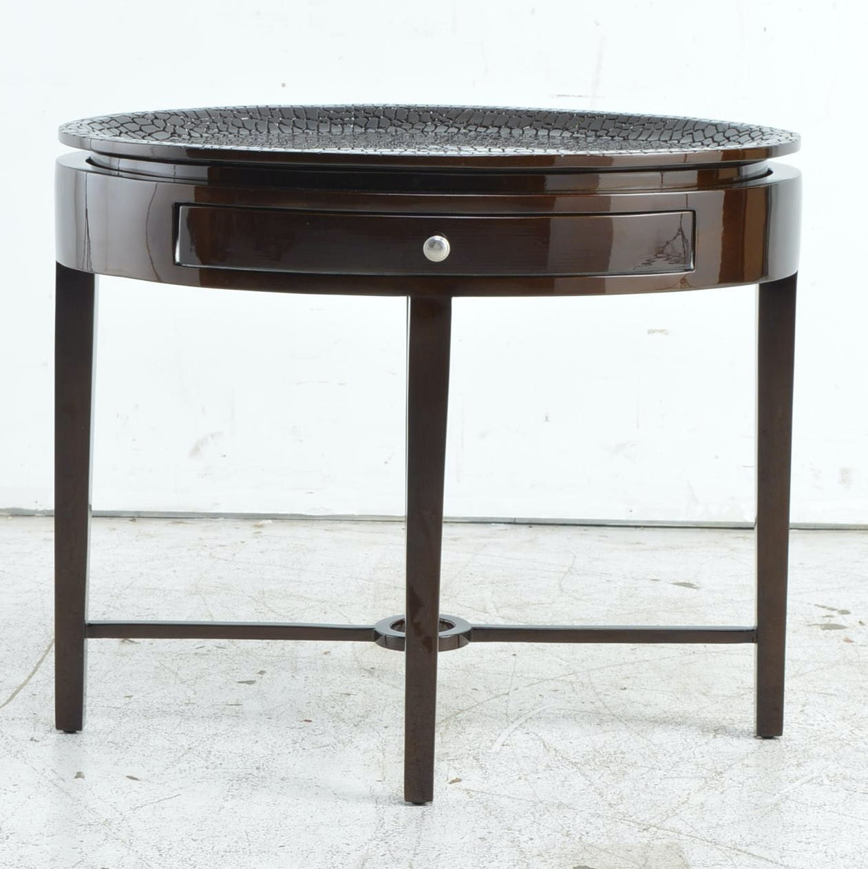 Contemporary Faux Alligator Tray Table
