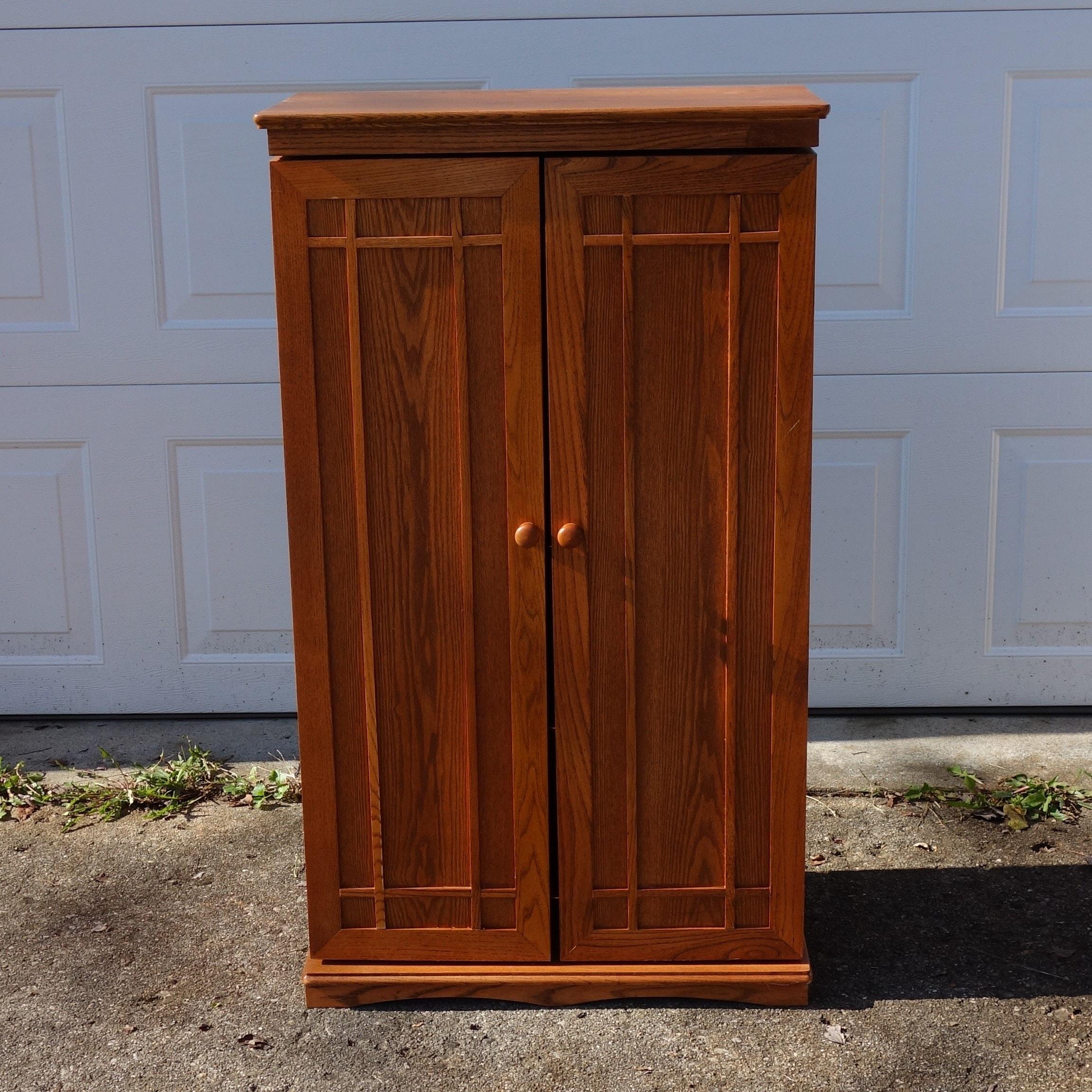 Oak DVD Cabinet
