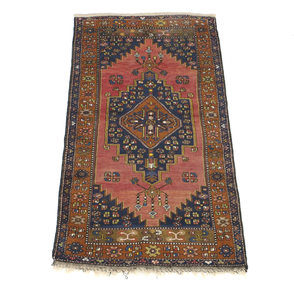Hand Knotted All Wool Caucasian Accent Rug