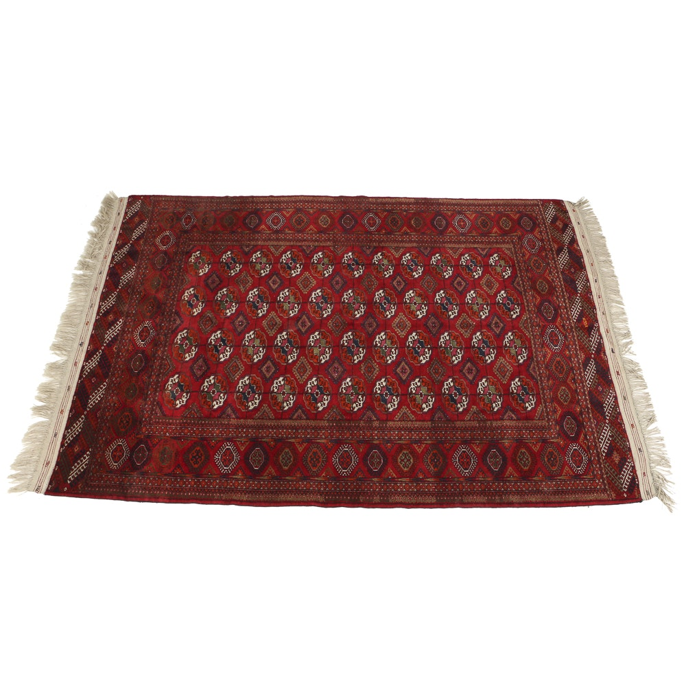 Hand Knotted All Wool Bokhara Room Size Rug