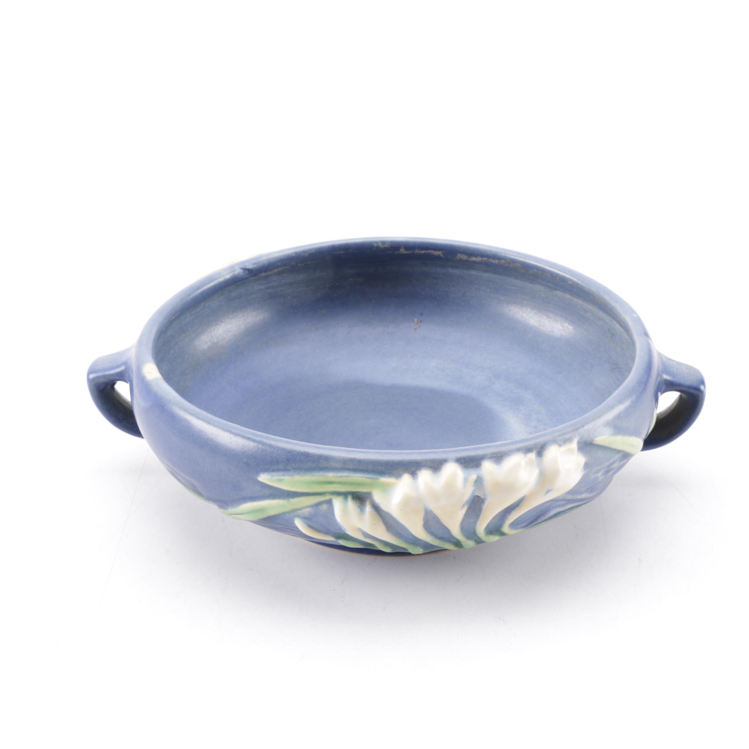 """Roseville Pottery """"Freesia"""" Ceramic Bowl"""