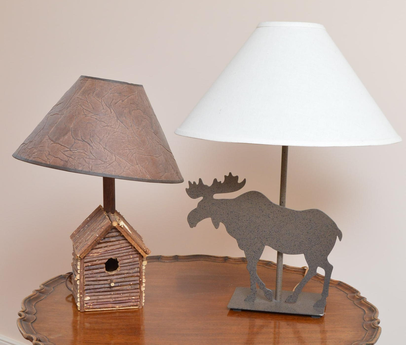 Moose and Birdhouse Themed Table Lamps
