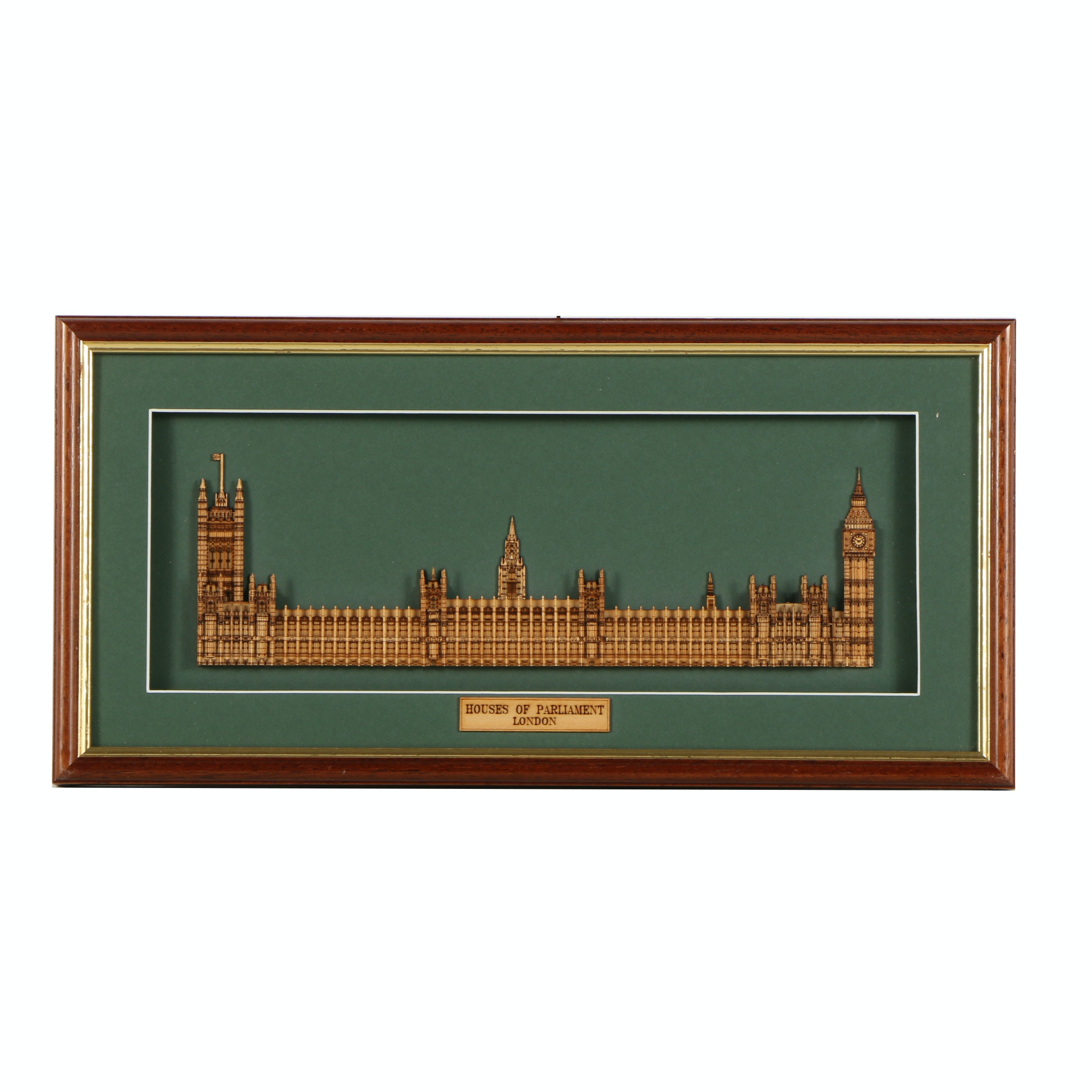 Laser Cut Wood Sculpture of the Houses of Parliament in London