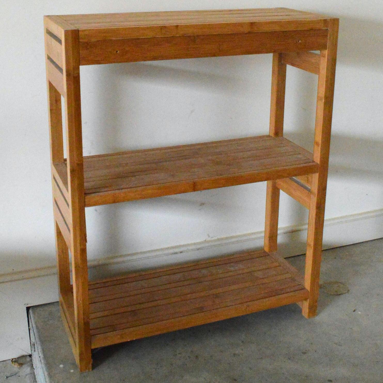 Pine Slat Style Shelving Unit