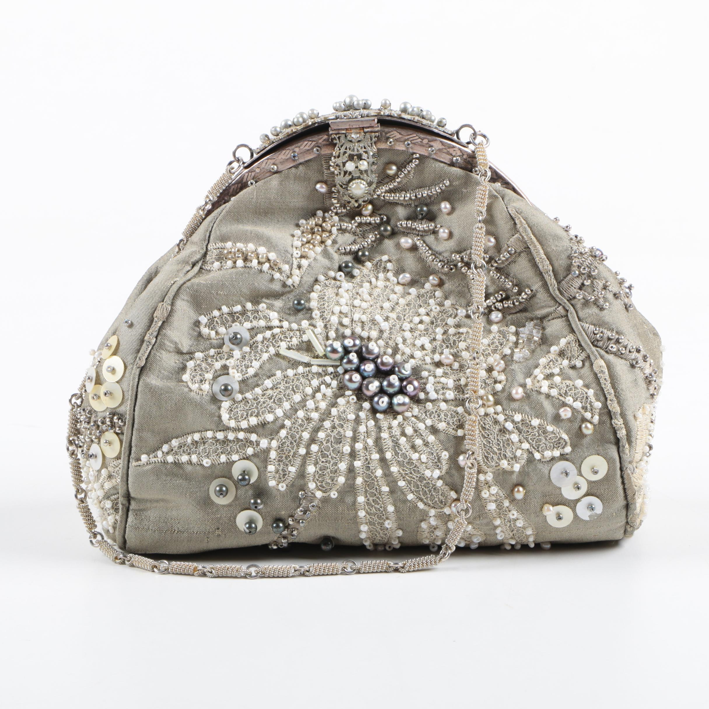 Gioia Beaded Occasion Frame Bag