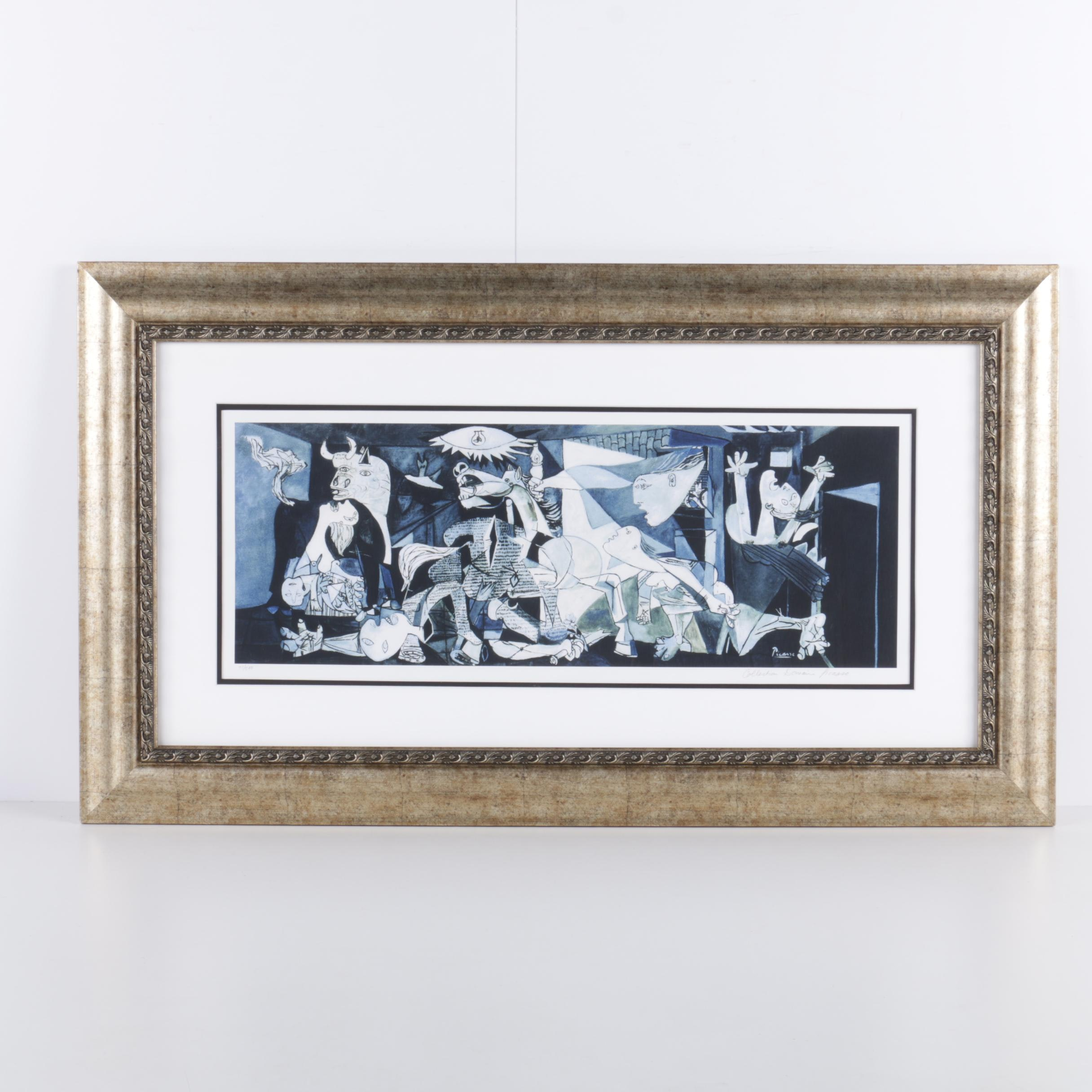 "Limited Edition Giclee on Paper After Pablo Picasso's ""Guernica"""