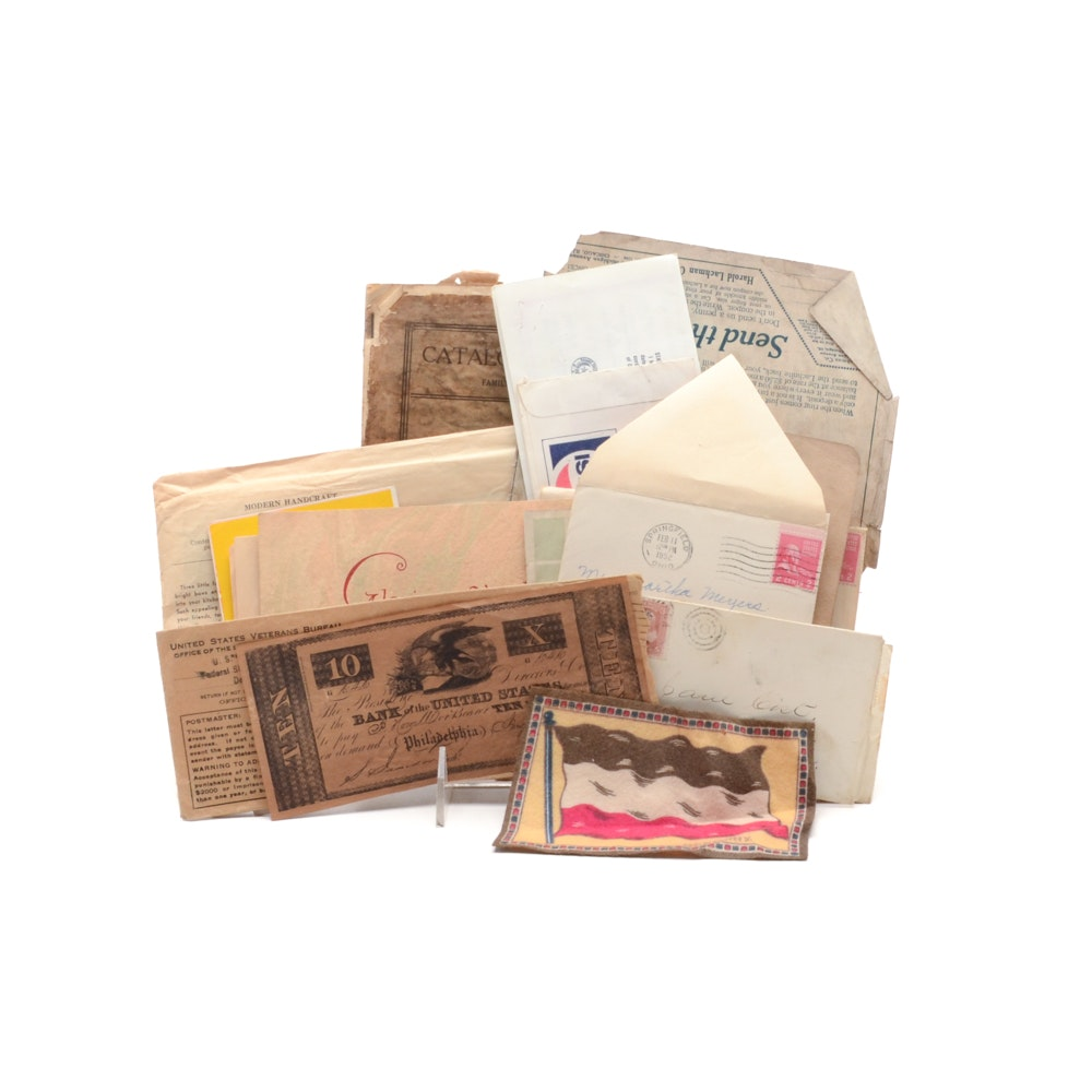 Antique and Vintage Paper Collectibles and Ephemera