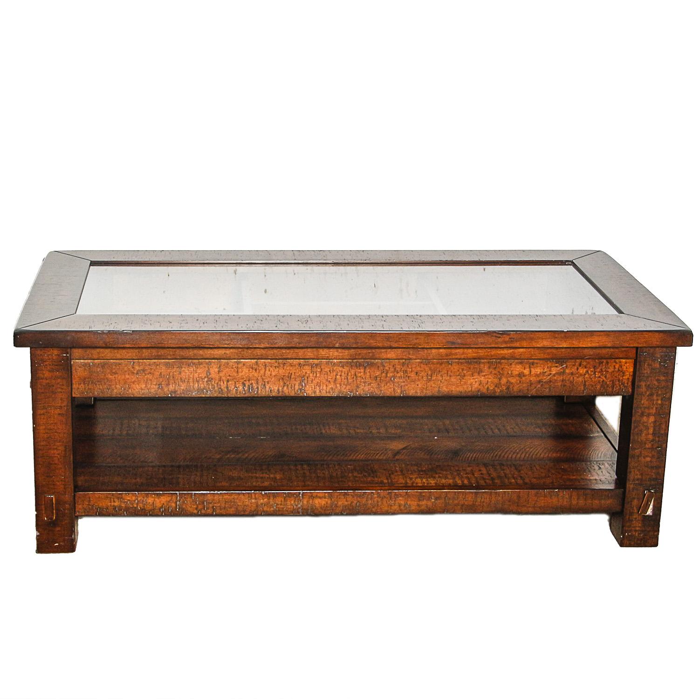 Glass Top Display Coffee Table EBTH