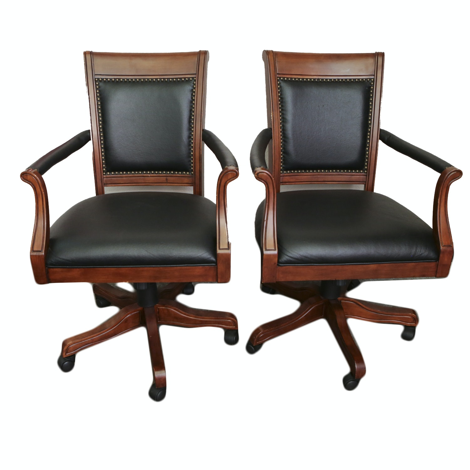 Pair of Swivel Base Desk Chairs