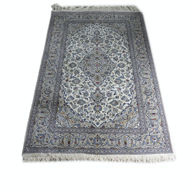 Hand-Knotted Persian Nain Area Rug