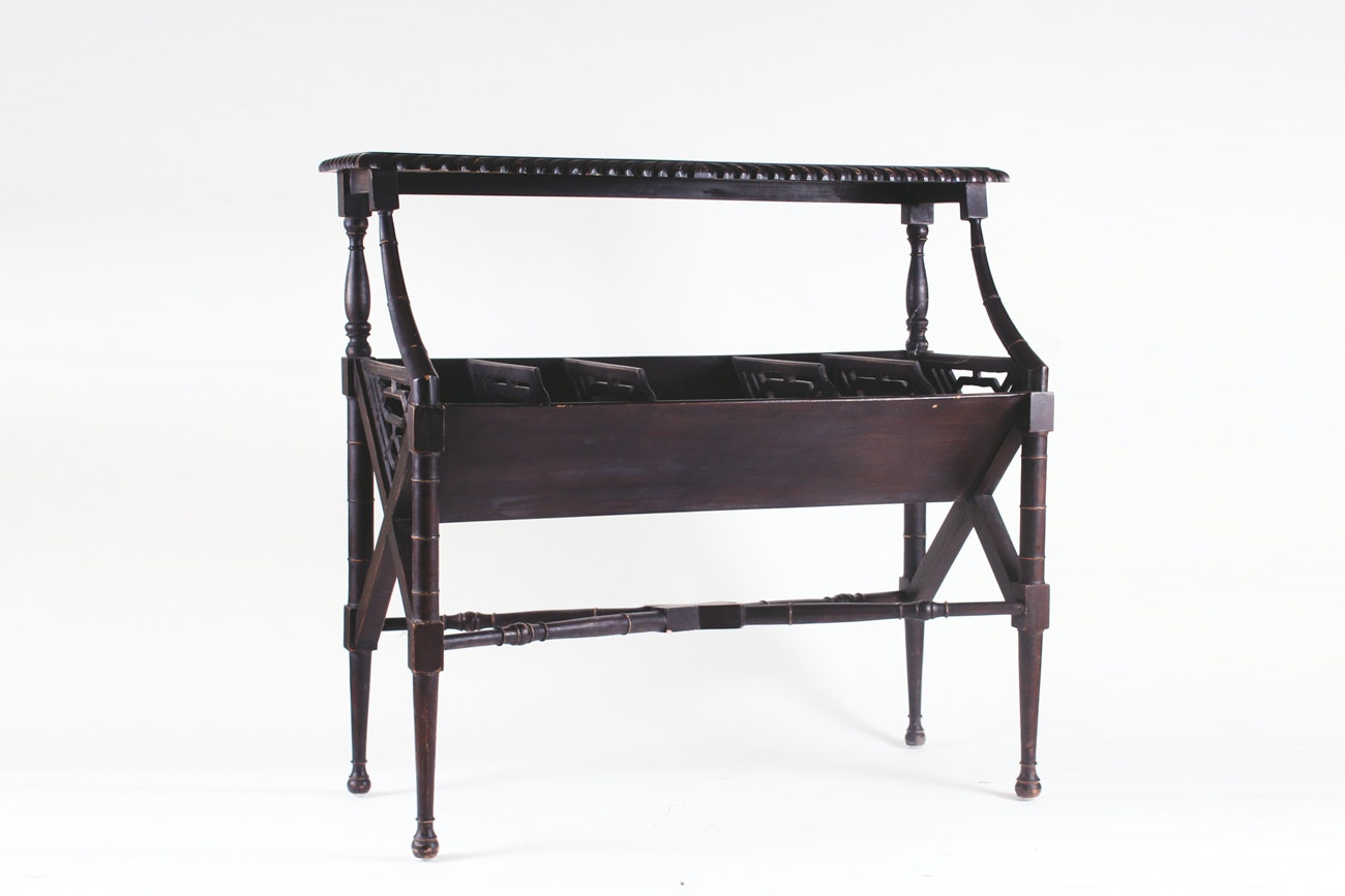 Dark Wood Storage Table