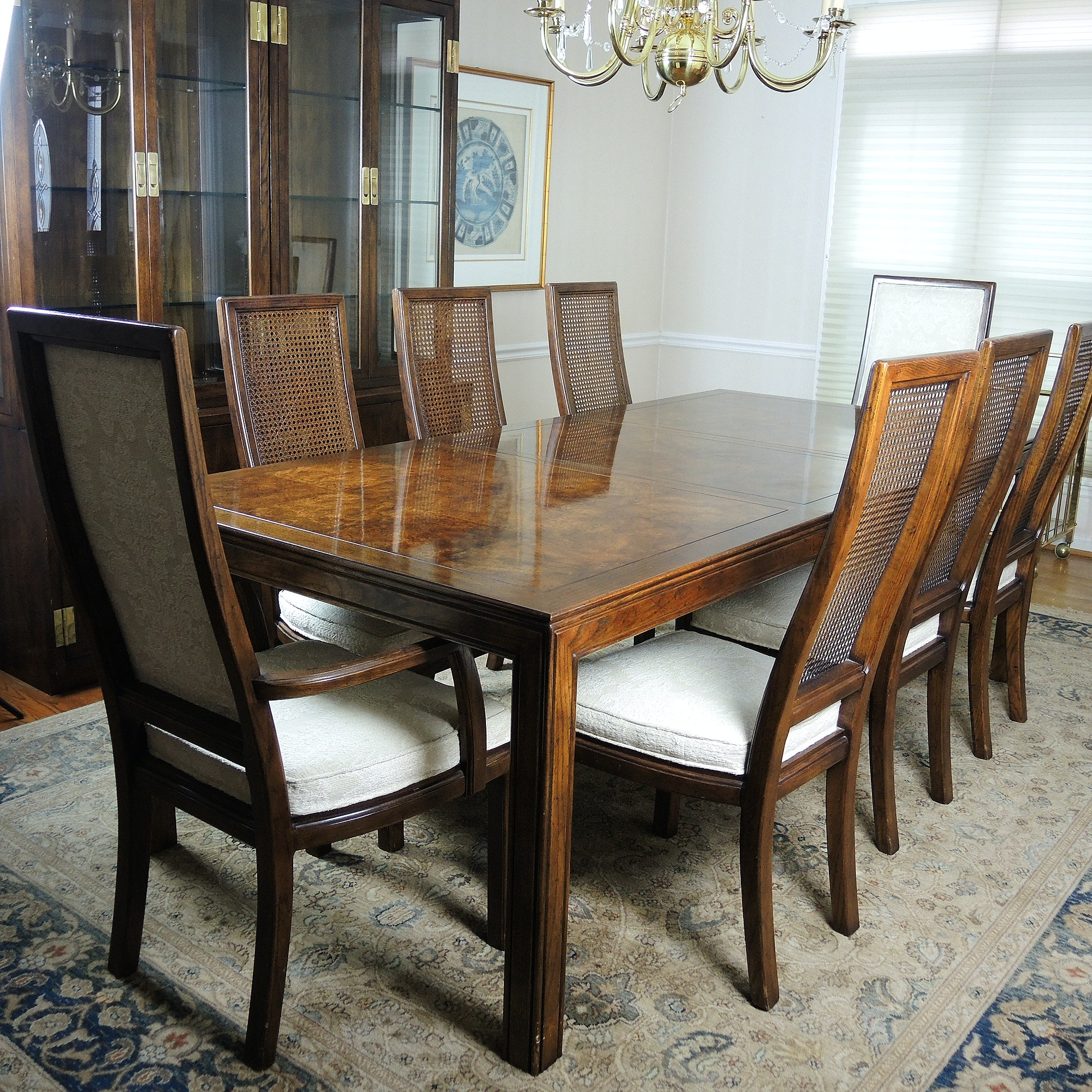 Henredon Scene One Dining Table With Eight Chairs Ebth