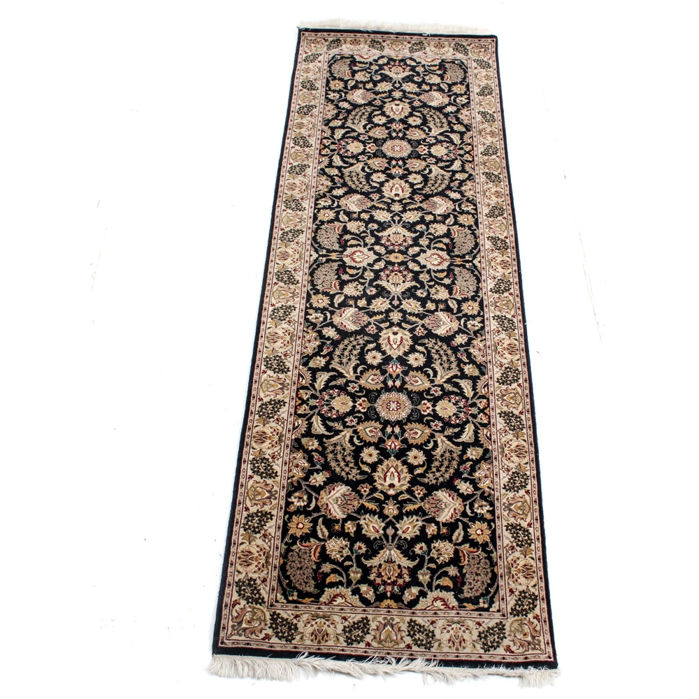 Hand-Knotted Indo-Persian Tabriz Runner