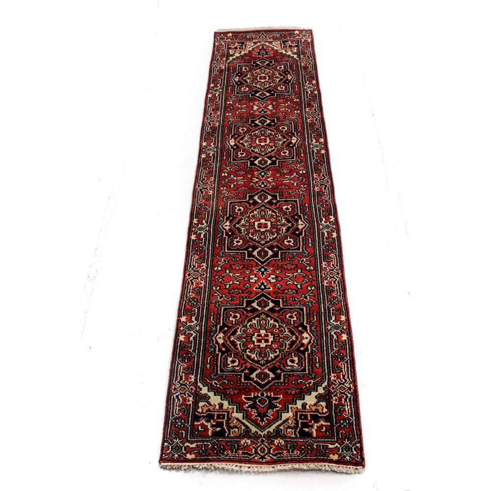 Hand-Knotted Persian Bakshaish Heriz Runner