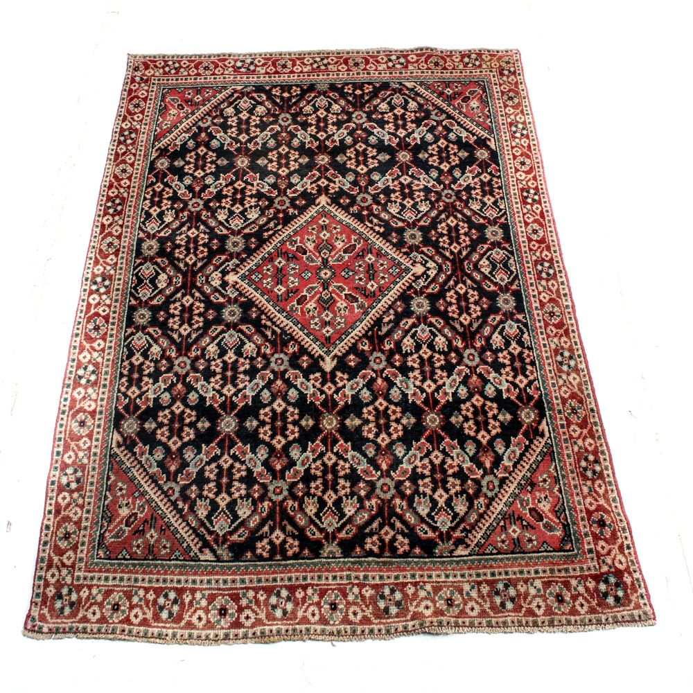 Vintage Hand-Knotted Persian Sultanabad Rug