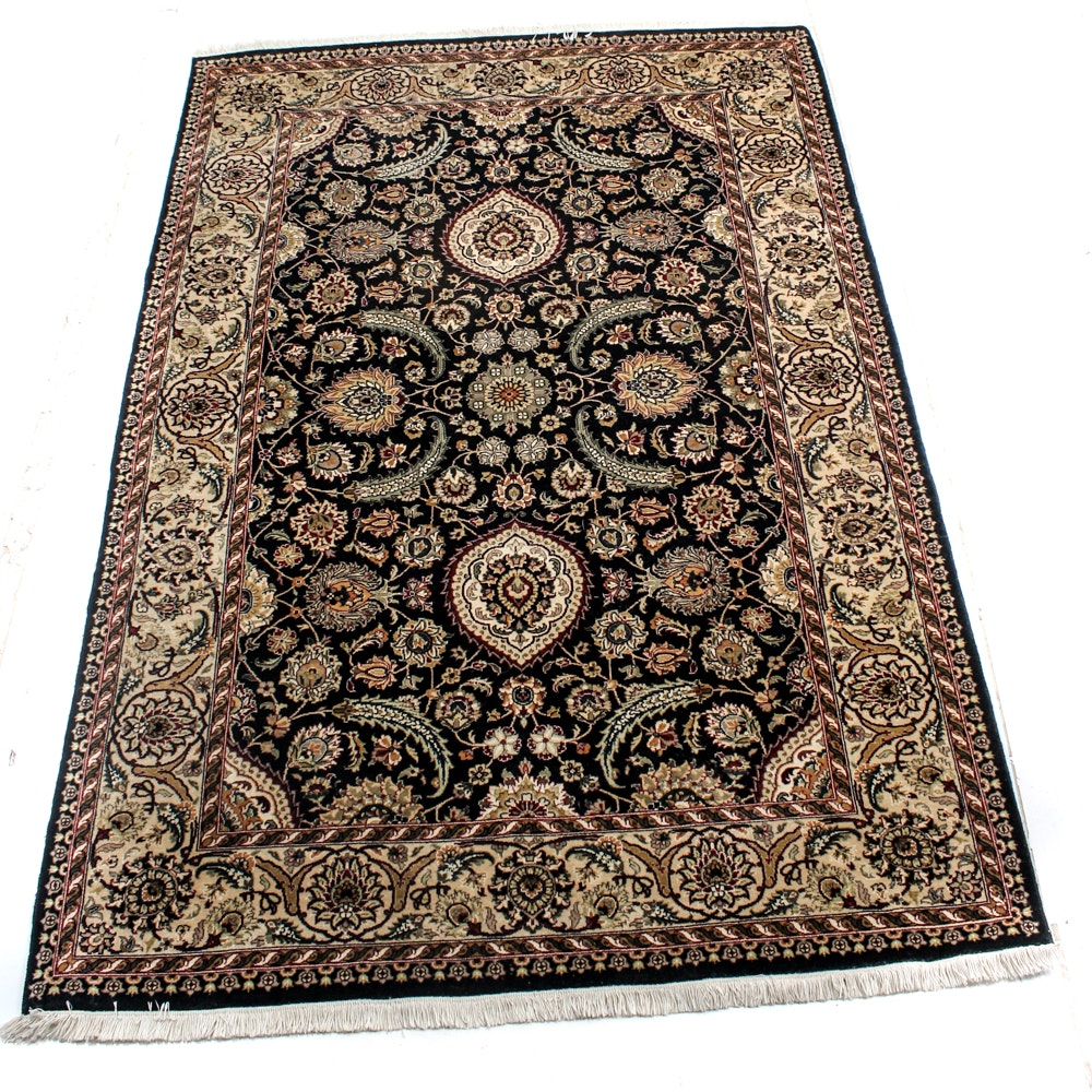 Hand-Knotted Indo-Persian Tabriz Area Rug