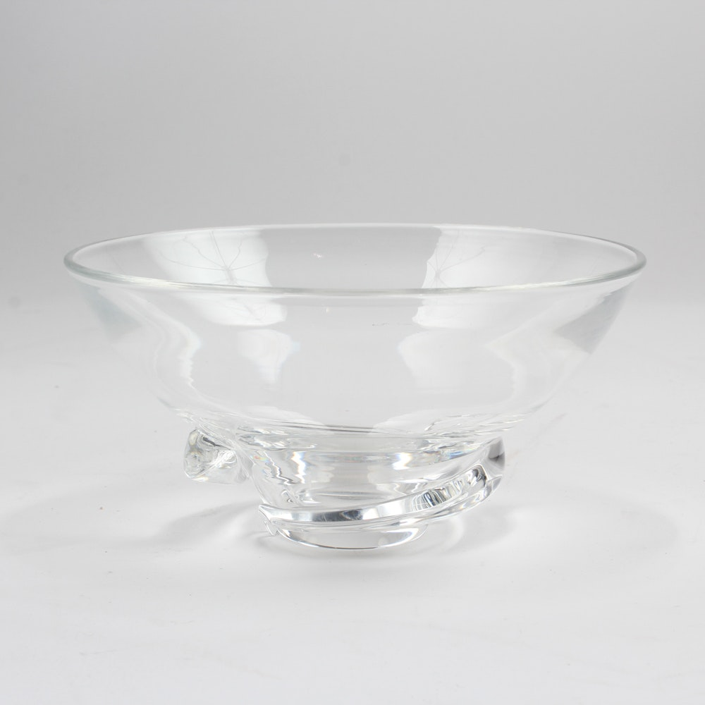 Hand-Blown Steuben Glass Bowl