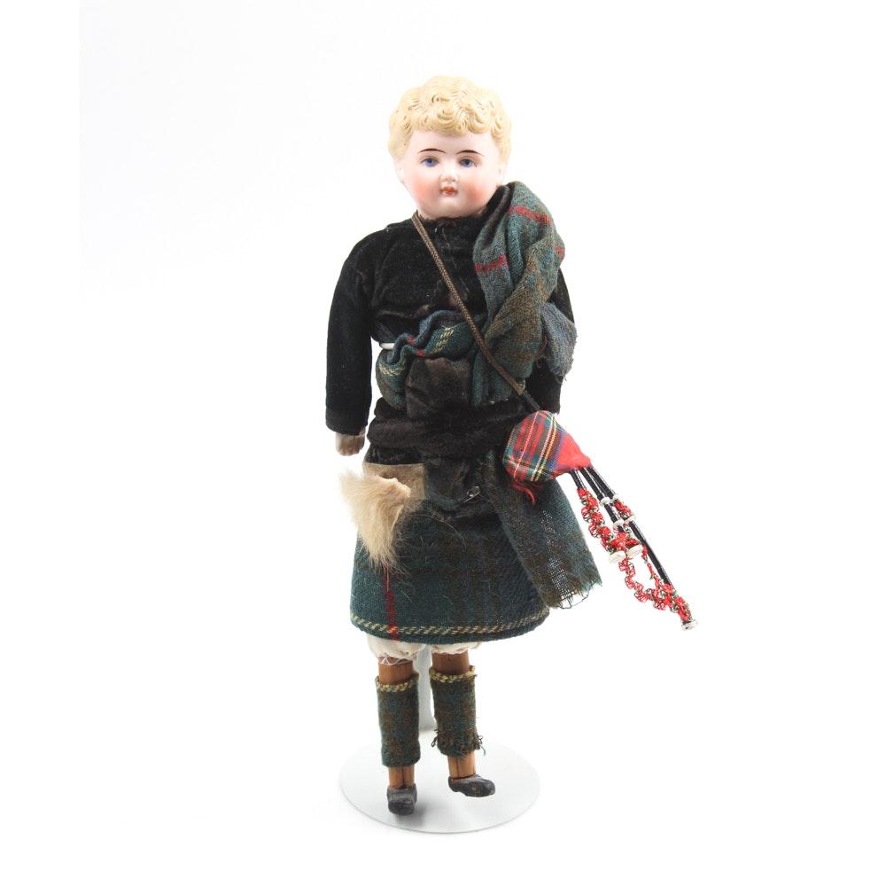 Vintage Handmade Scottish Figurine