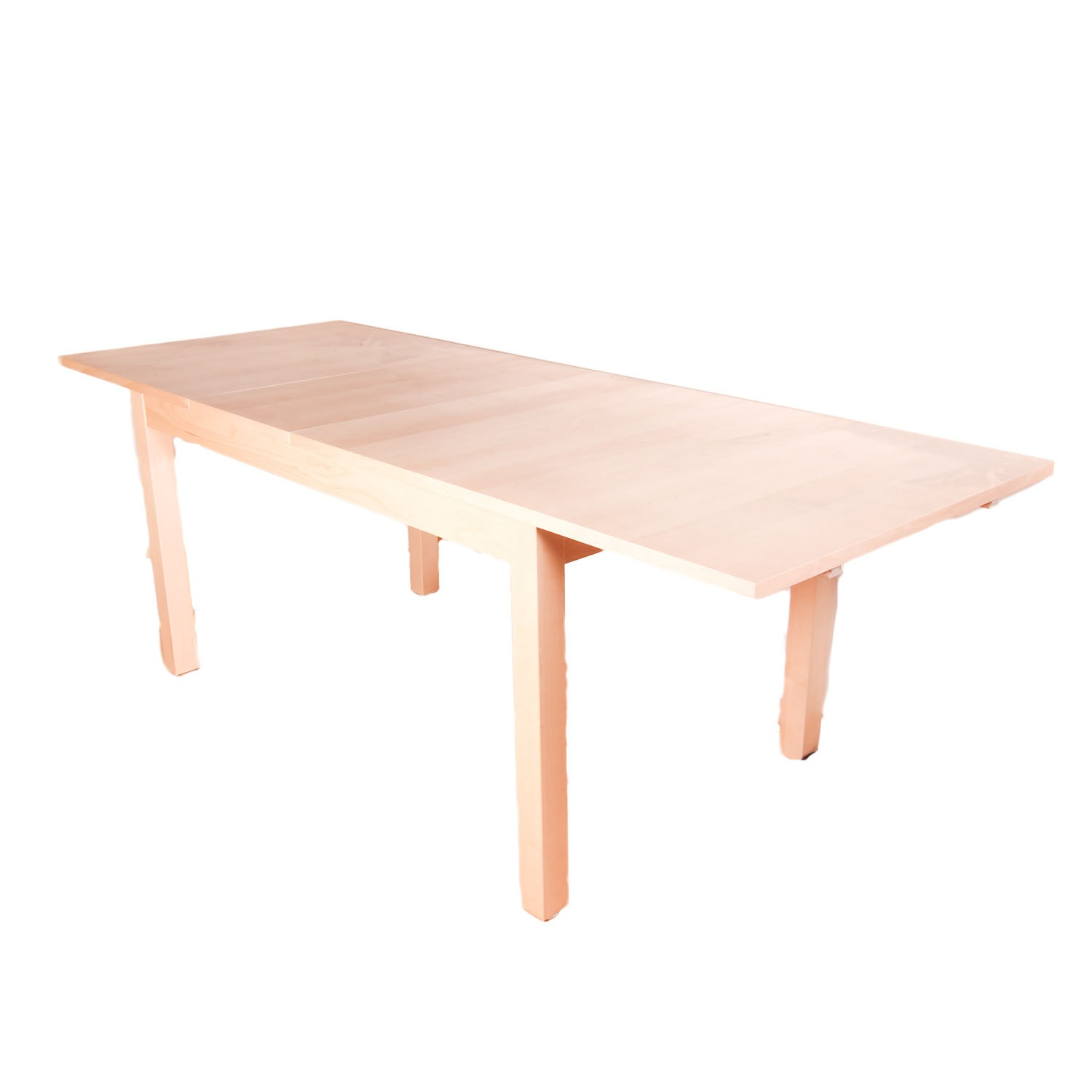 Blonde Wood Parsons Style Extension Table ...