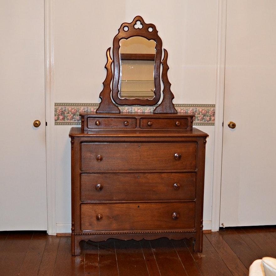 Antique Victorian Dresser with Mirror | EBTH