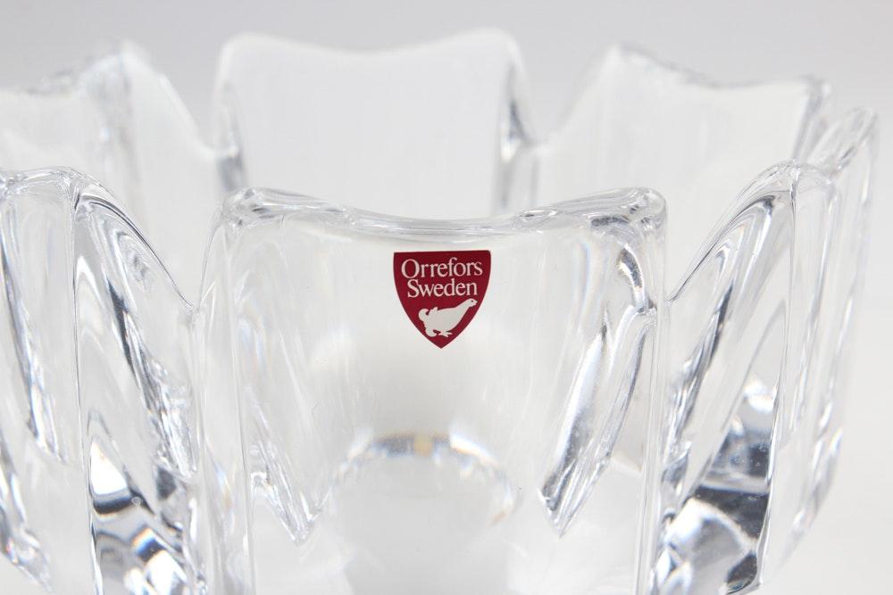 Orrefors Swedish Glass Bowl