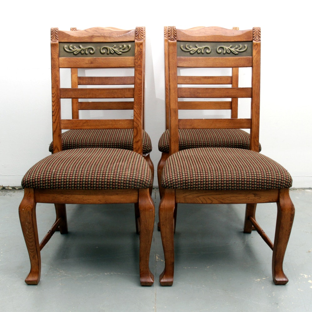 Queen Anne Style Oak Side Chairs by Ashley Furniture
