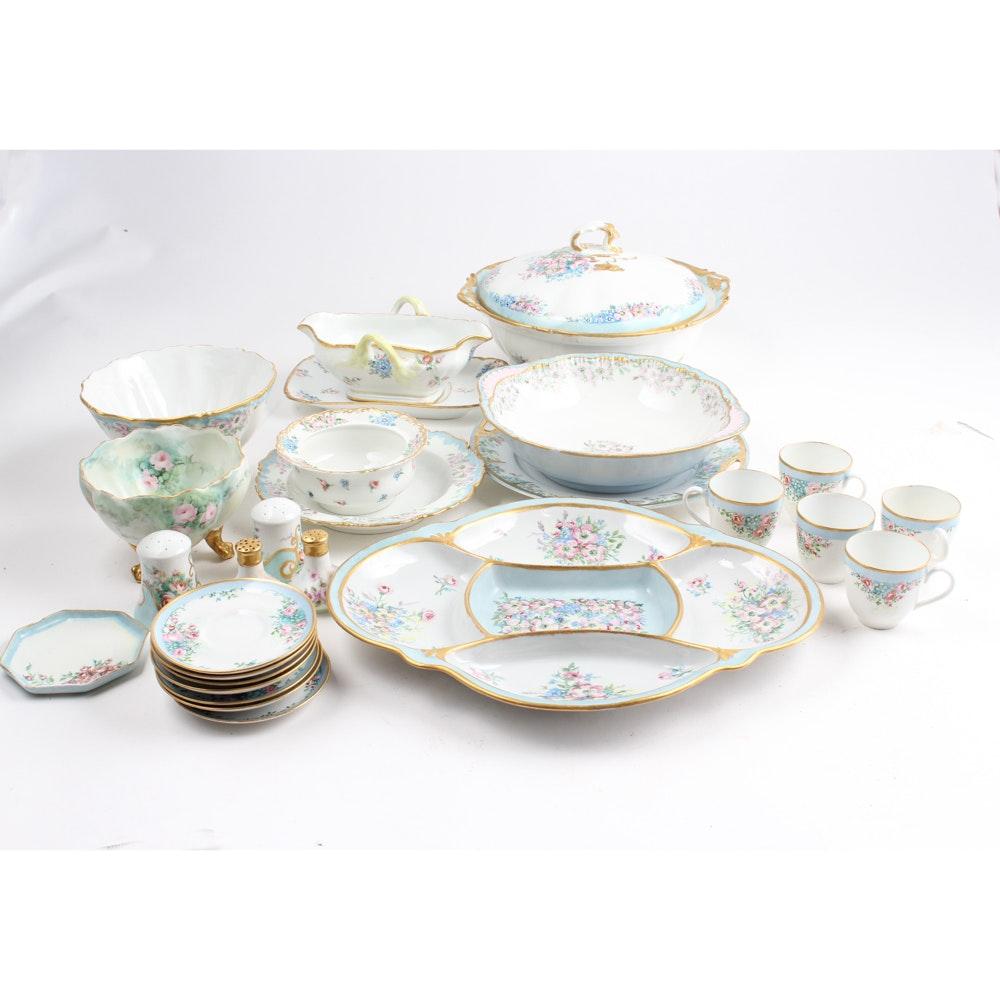 Hand-Painted Porcelain Tableware Set