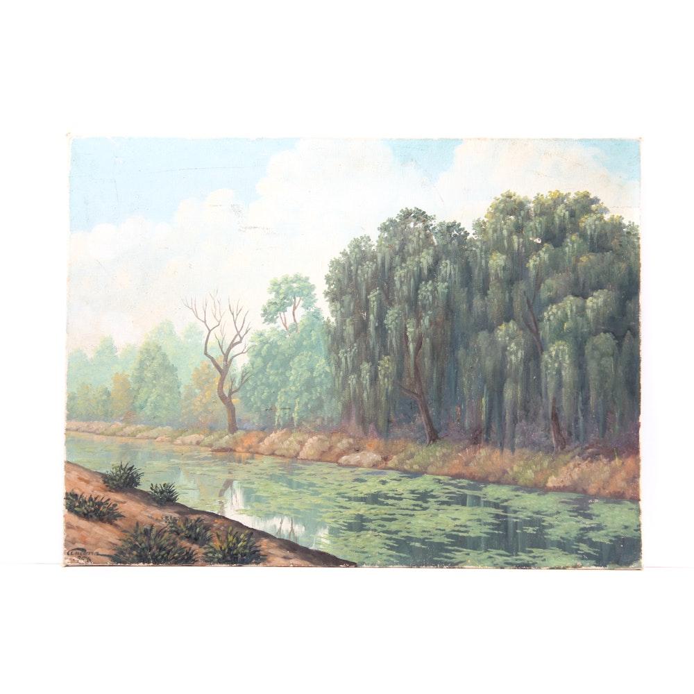 Vintage Original Oil on Canvas Painting