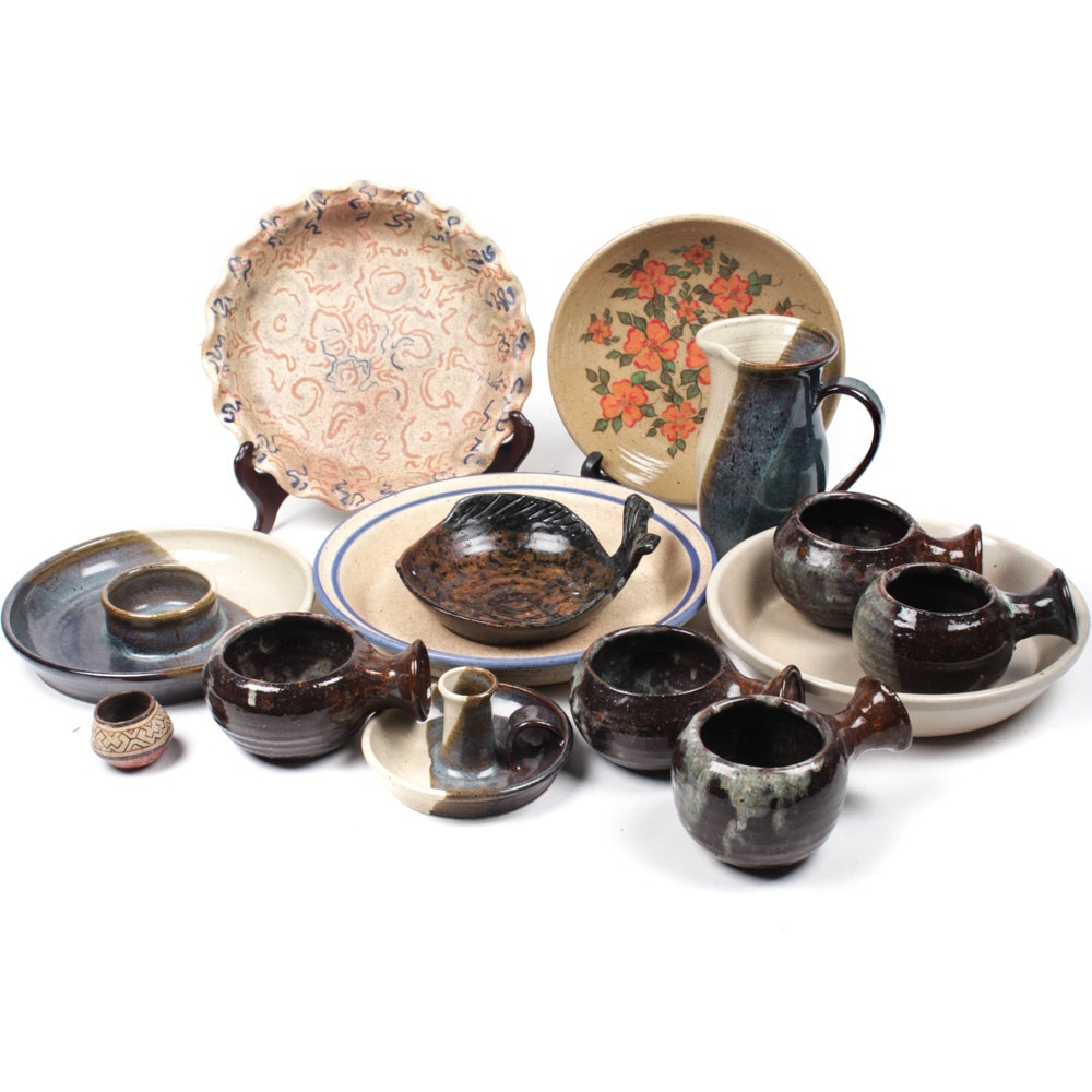 Stoneware Tableware Assortment Including Robinson Ransbottom