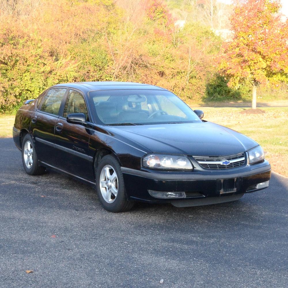 2003 Black Chevrolet Impala LS Sedan