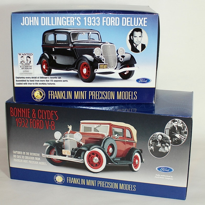 Franklin Mint 1930s Gangsters Die Cast Cars : EBTH