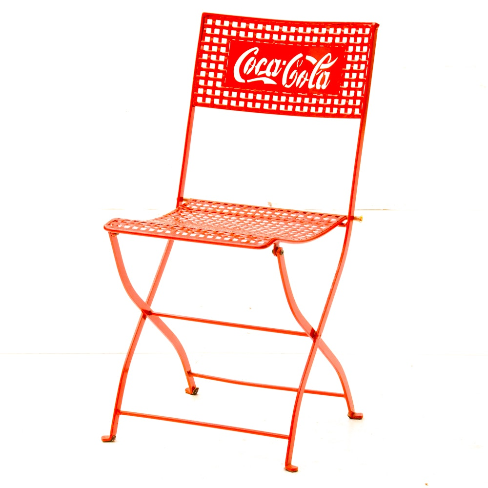 Coca Cola Metal Folding Chair ...