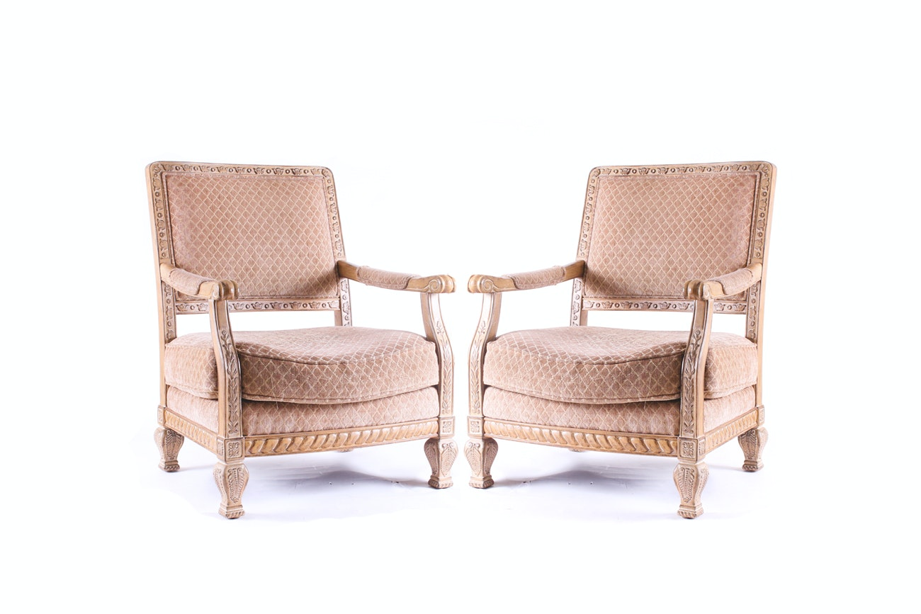 Pair of Schnadig Upholstered Armchairs
