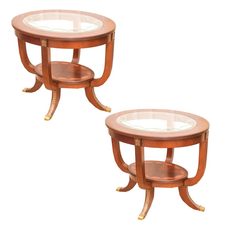 Pair of Duncan Phyfe Style End Tables
