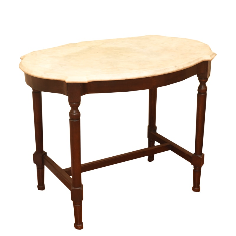 Vintage Victorian Style Marble Top Table