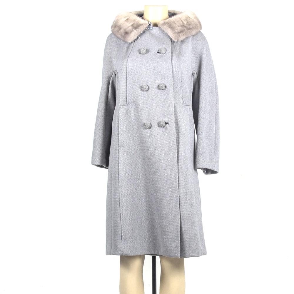 B & B Auto Sales >> Vintage Holly Gab Wool Coat with Grey Mink Fur Collar | EBTH