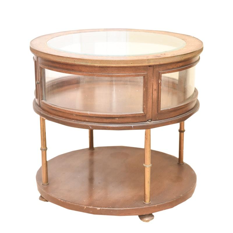 Vintage Display End Table