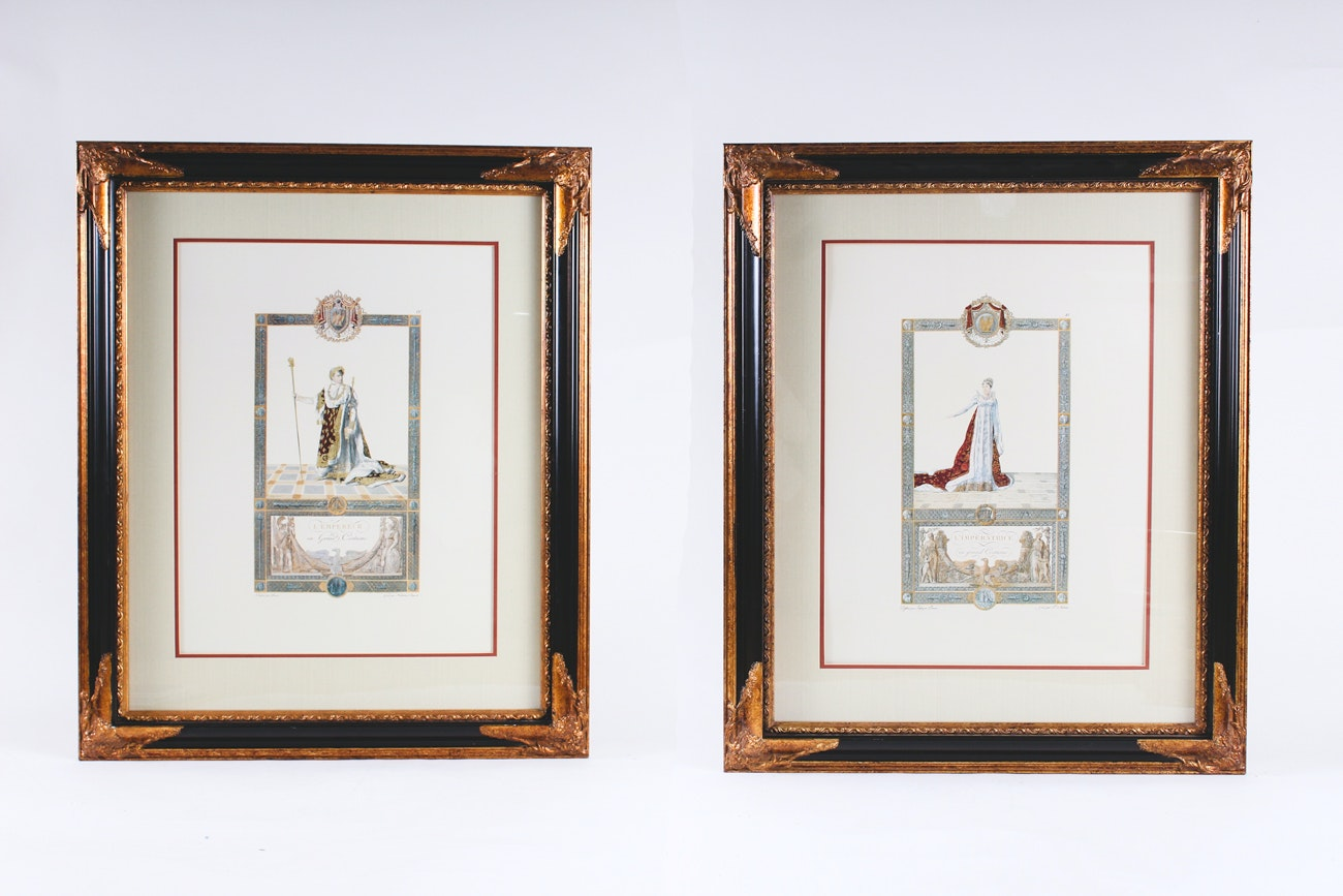 Pair of Framed Offset Lithographs after Pierre Audouin