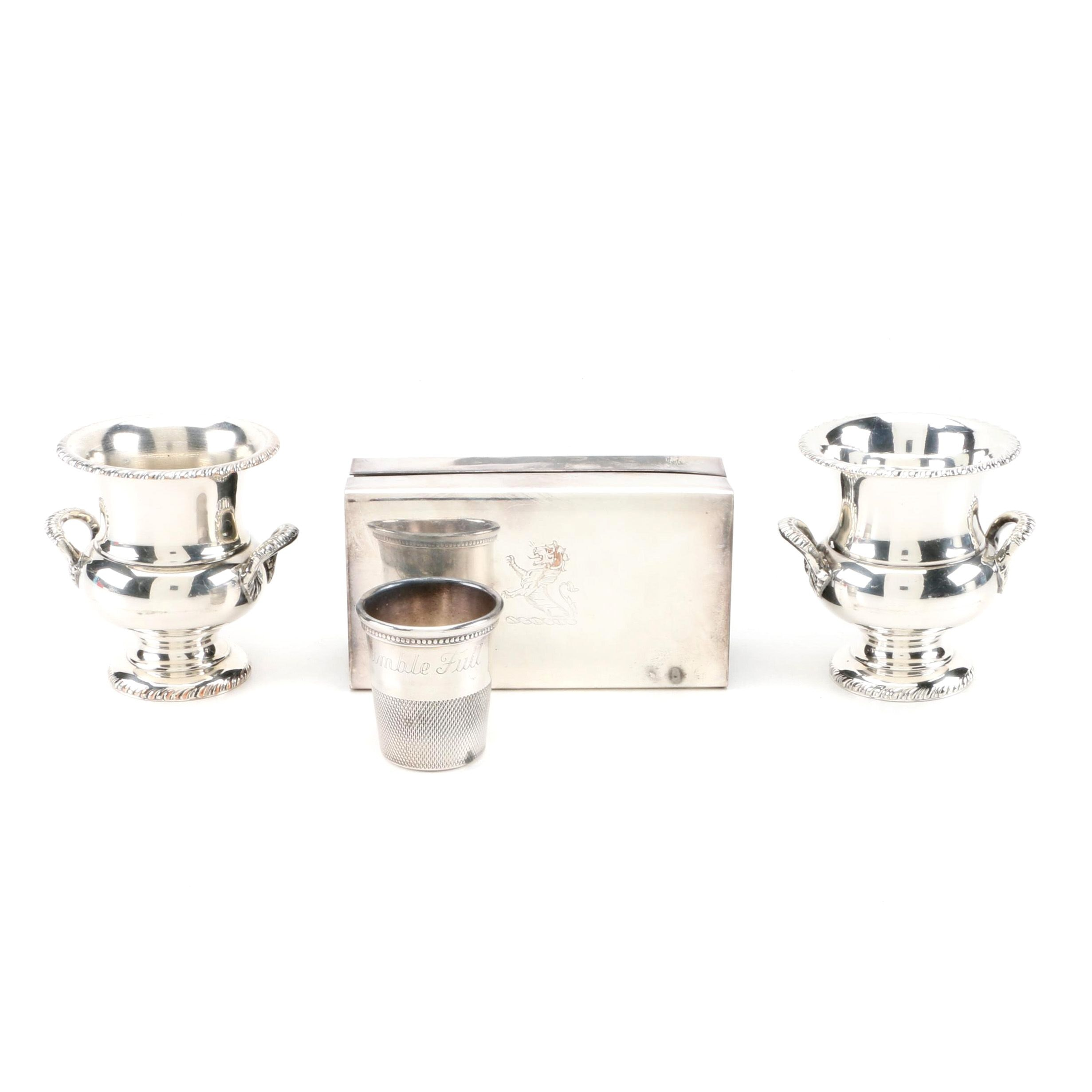 Sheffield Silver Co. Silver Plate Toothpick Holders with More Silver Plate