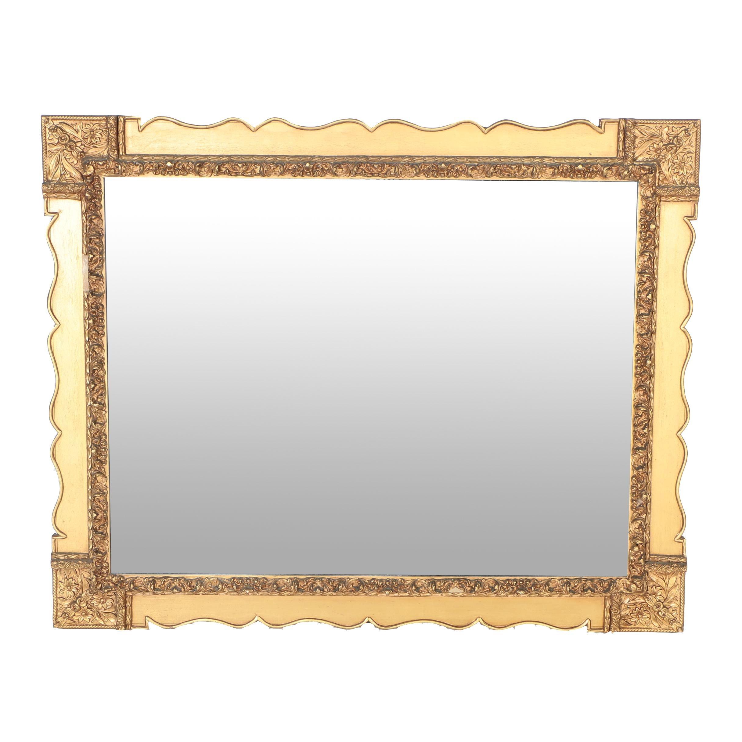 Rectangular Baroque Style Wall Mirror