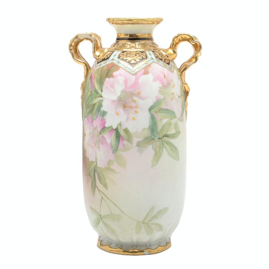 Antique Hand Painted Nippon Vase Circa 1915 Ebth