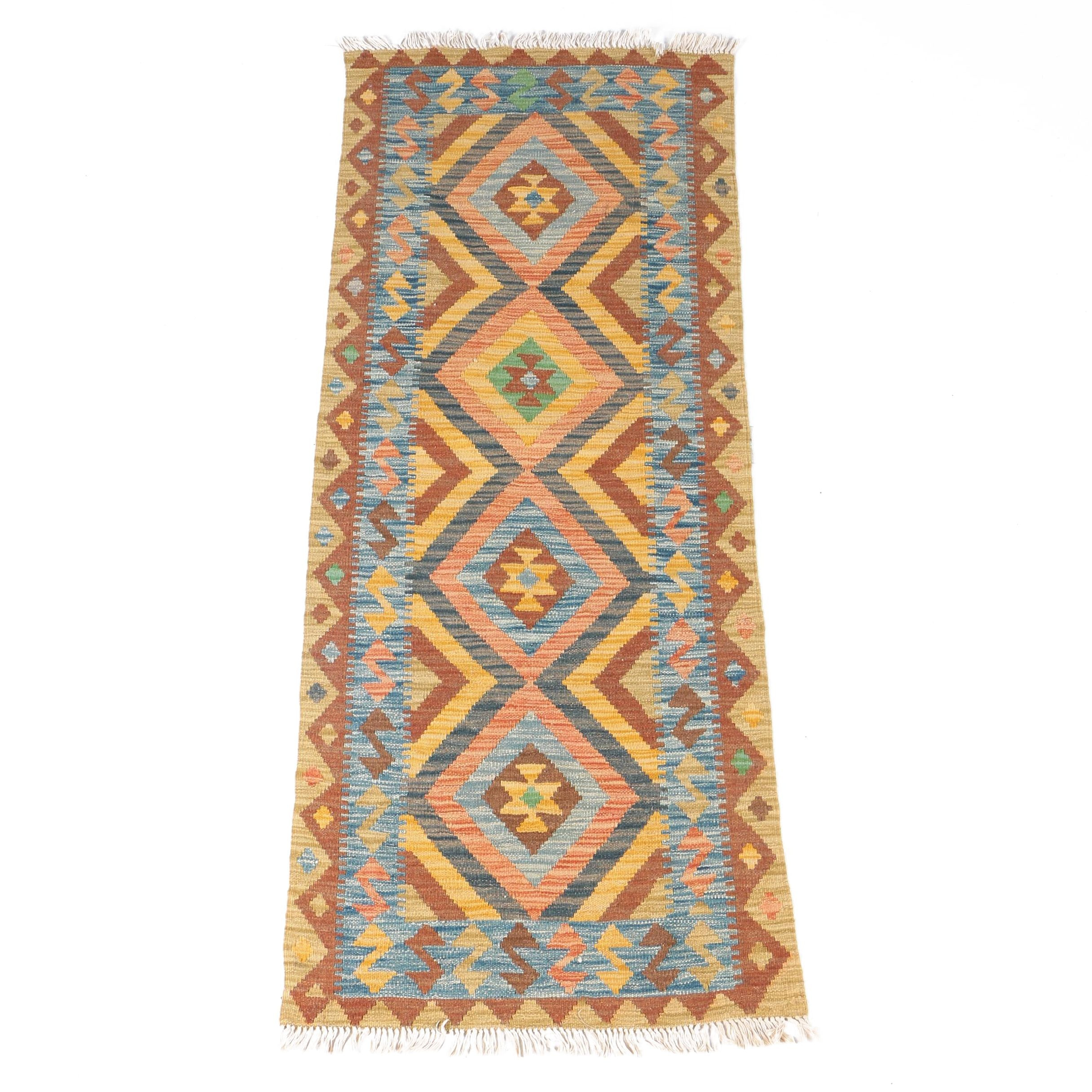 Handwoven Turkish Kilim Runner