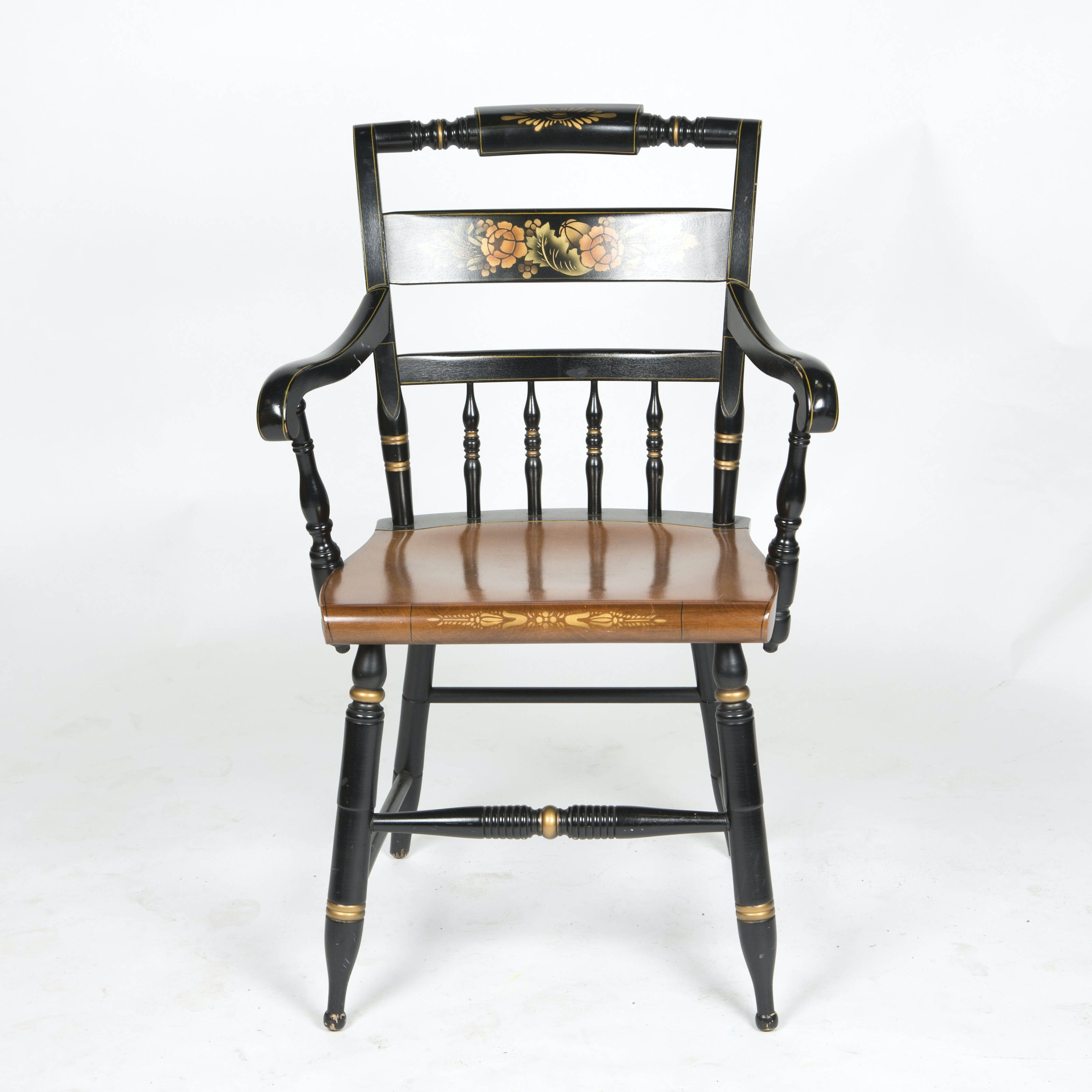 Hitchcock Painted and Stenciled Arm Chair