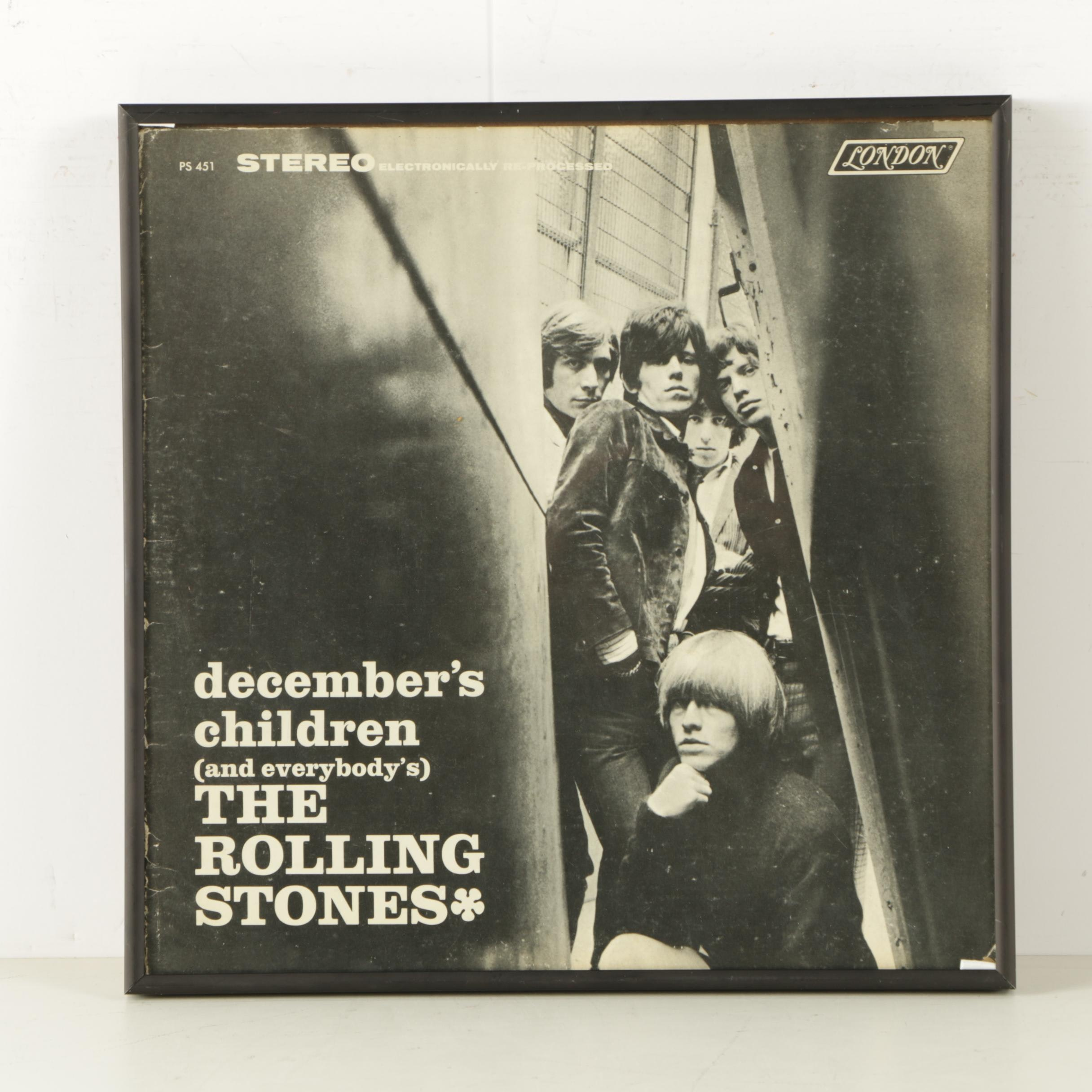 "Framed Rolling Stones Album Cover ""December's Children (And Everybody's)"""