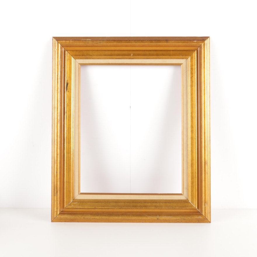 Wooden Gold Tone Mirror Or Picture Frame Without Glass Ebth